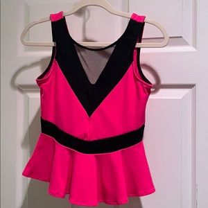 Electric pink and black Bebe sleeveless